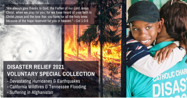 Disaster Relief 2021 Banner
