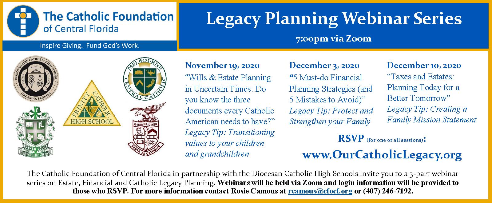 2020 Legacy Planning Webinar Series